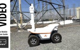Autonomous Security Robot from SMP Robotics performs power sub station patrols