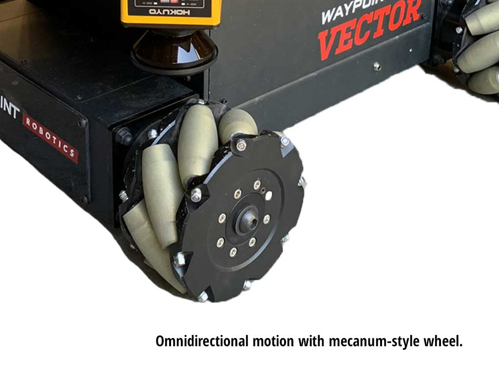 Mecanum wheel on a vector robot