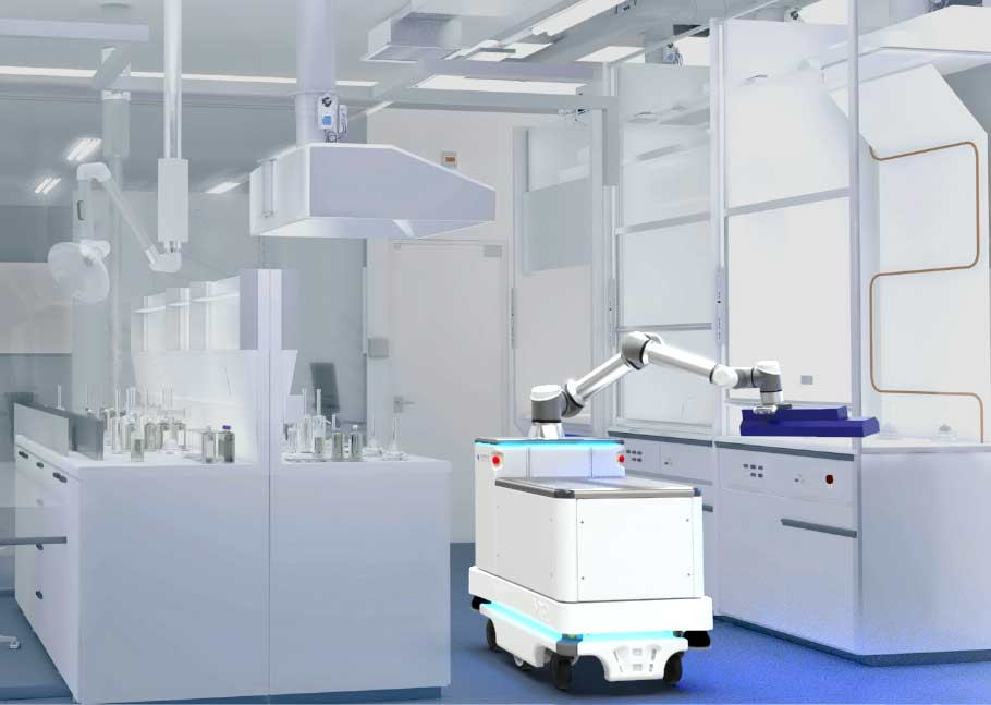 Enabled Robotics robot disinfects a laboratory