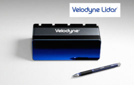 Velodyne M1600 Sensor with a pen for size