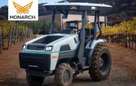 Monarch Tractor in a vineyard