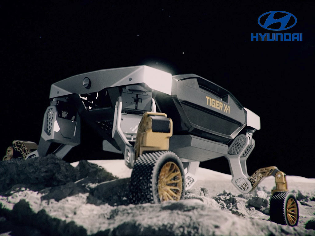 Hyundai TIGER X-1 on the surface of another planet