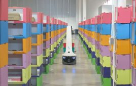locus robot in a warehouse